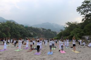 Yoga on Ganga Beach.JPG